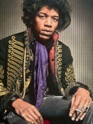 Jimi Hendrix by Nick Holdsworth -  sized 35x47 inches. Available from Whitewall Galleries